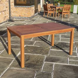 1.5m Willington Rectangle Hardwood Table FSC™ by Rowlinson®