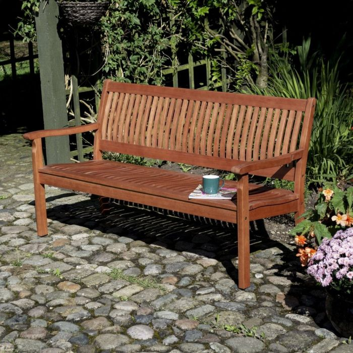 1.5m (4ft) Willington Hardwood Bench FSC™ by Rowlinson®