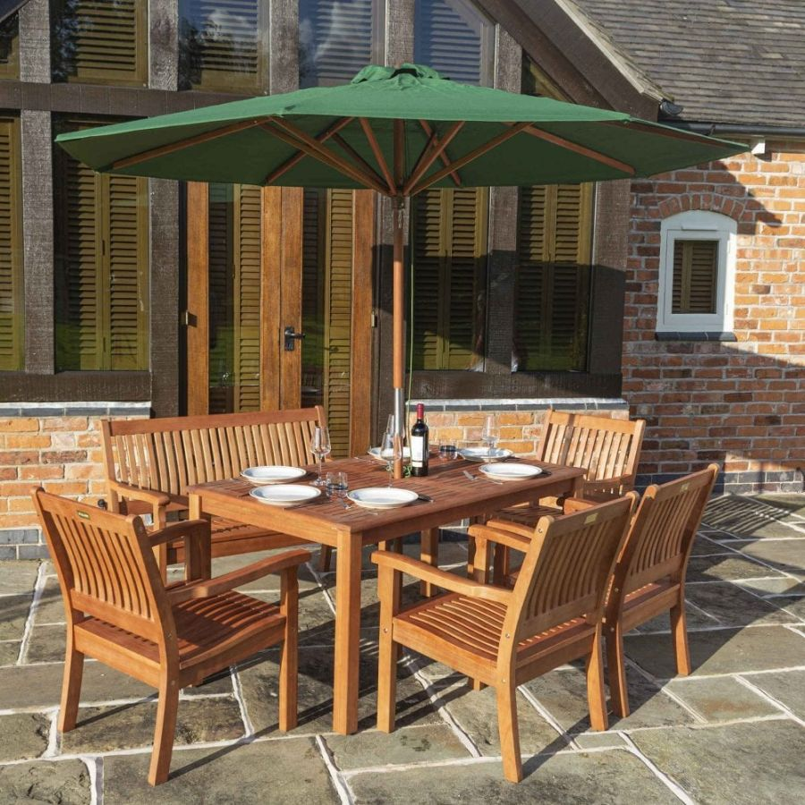 2.7m Willington Green Wooden Parasol FSC™ by Rowlinson®