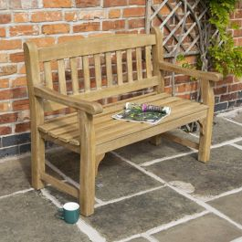 1.2m (3ft) Tuscan Hardwood Bench FSC™ by Rowlinson®