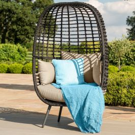 Maze Rattan Riviera Garden Deep Seated Chair in Brown