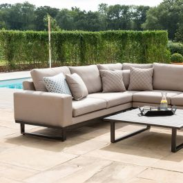 Maze Lounge Ethos Garden Corner Sofa Set and Coffee Table in Taupe