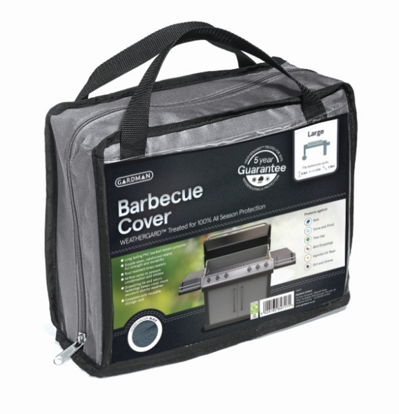 Gardman 170cm x 60cm Barbecue Cover - Grey