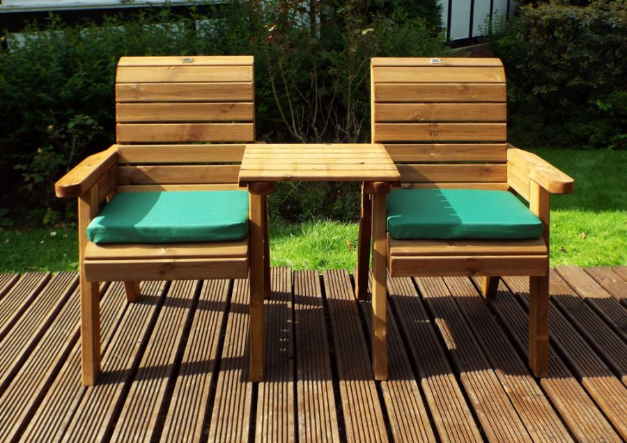 Charles Taylor Wooden Garden Twin Companion Set with Green ...