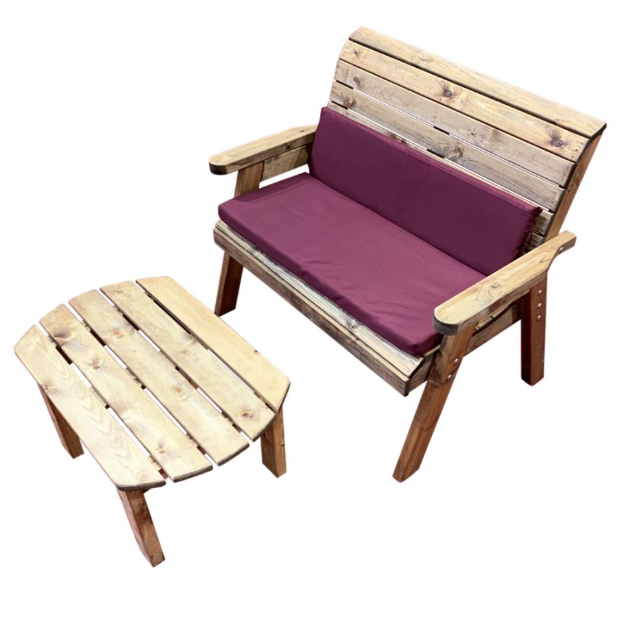 Charles Taylor Wooden Garden Deluxe Bench Set with ...