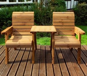 Charles Taylor Wooden Garden Twin Companion Set Gold