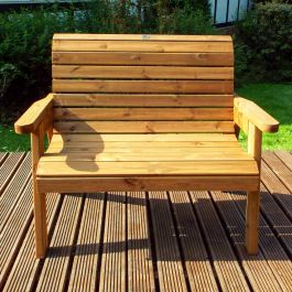 Charles Taylor Wooden Garden 2 Seater Bench Gold