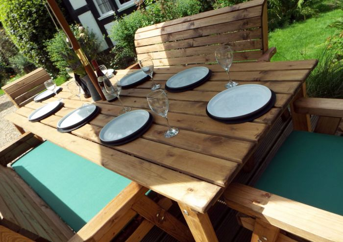 Charles Taylor Wooden Garden 8 Seater Rectangle Table