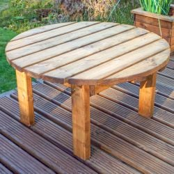 Charles Taylor Wooden Garden Round Coffee Table