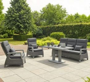 Norfolk Leisure LIFE Rattan Aloha 5 Seat Lounge Set In Matt Grey