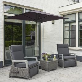 Norfolk Leisure LIFE Rattan Aloha 2 Seat Relax Set In Matt Grey