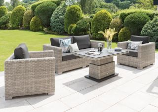 Norfolk Leisure LIFE Rattan Aya 4 Seat Sofa Set In Yacht Grey