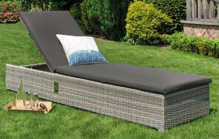 Norfolk Leisure LIFE Rattan Aya Lounger Set In Yacht Grey