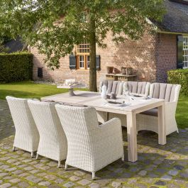 Norfolk Leisure LIFE Rattan Corona 6 Seat Count Set In Grey Teak