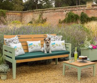 Norfolk Leisure Florenity Eucalyptus Verdi 3 Seat Bench In Natrual/Green