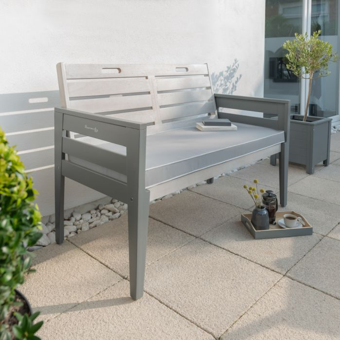 Norfolk Leisure Florenity Eucalyptus Grigio 2 Seat Bench In Grey
