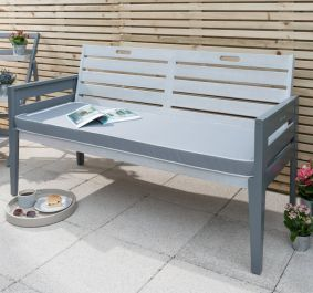 Norfolk Leisure Florenity Eucalyptus Grigio 3 Seat Bench In Grey