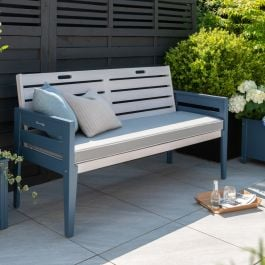 Norfolk Leisure Florenity Eucalyptus Galaxy 3 Seat Bench In Grey