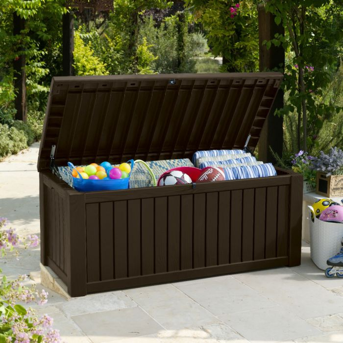 Norfolk Leisure Rockwood Resin Storage Box In Dark Brown