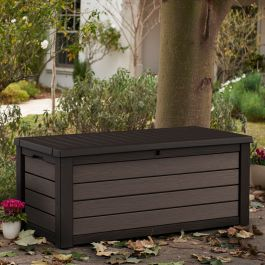 Norfolk Leisure 570L Brushed Resin Storage Box In Dark Brown