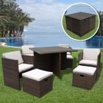 4 Seater Rattan Cube Dining Set
