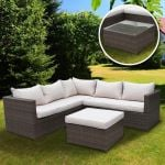 5 Seater Rattan Corner Sofa Set
