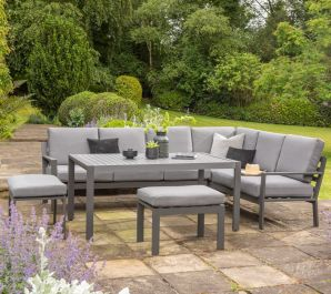 Norfolk Leisure Handpicked Aluminium Titchwell 7 Seat Corner Set In Grey