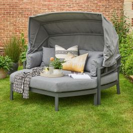 Norfolk Leisure Handpicked Aluminium Titchwell 2 Seat Day Bed In Grey