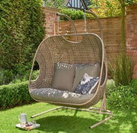 Norfolk Leisure Handpicked Rattan Goldcoast 2 Seat Double Swing In Beige