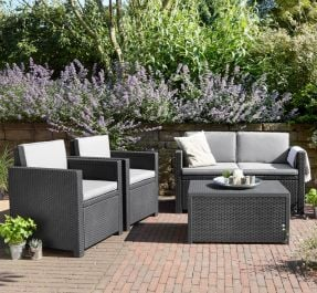 Norfolk Leisure Handpicked Armona Sofa Set In Graphite