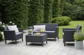 Norfolk Leisure Handpicked Salemo Sofa Set In Graphite