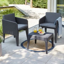 Norfolk Leisure Handpicked Columbia Balcony Set In Graphite