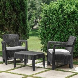 Norfolk Leisure Handpicked Tarifa Balcony Set In Graphite