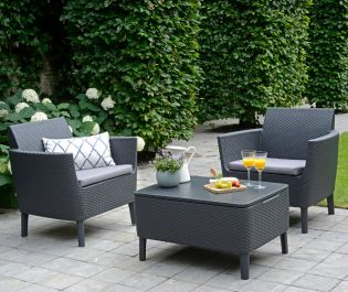 Norfolk Leisure Handpicked Salemo Balcony Set In Graphite