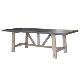 180cm Rectangular Cement Fibre Outdoor Dining Table