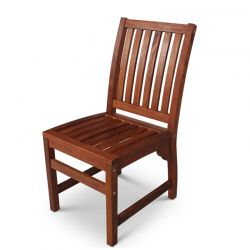 Devon Hardwood Side Chair for Indoor or Outdoor Use