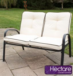 Hadleigh Sofa Bench With Cushions In Black By Hectare®