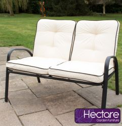 Hadleigh Sofa Bench With Cushions In Black By Hectare™