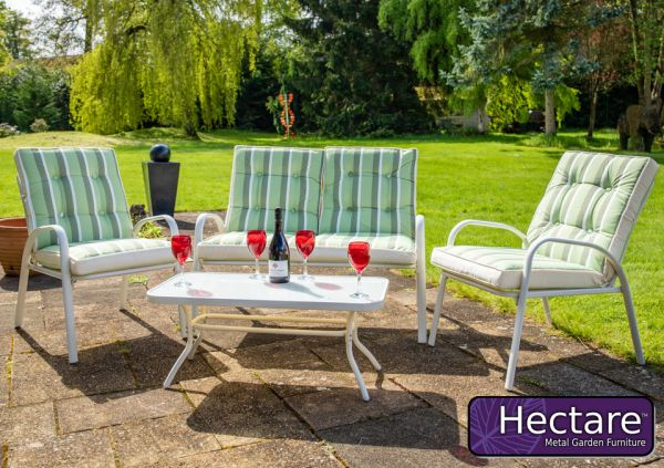 Hadleigh 4 Seater Garden Sofa Set With Coffee Table In White By Hectare™