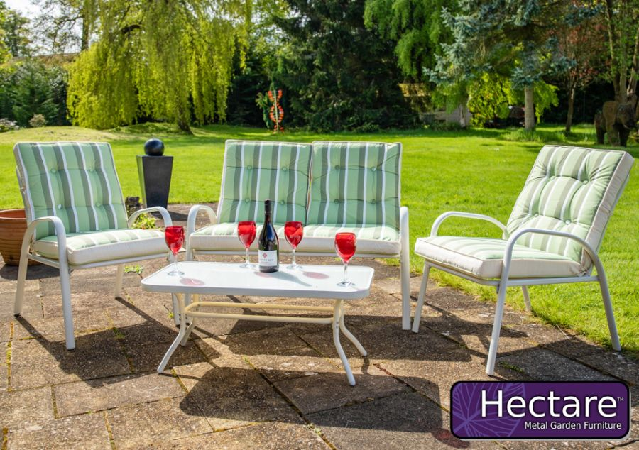 Hadleigh 4 Seater Garden Sofa Set With Coffee Table In White By Hectare®