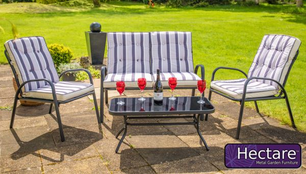 Hadleigh 4 Seater Garden Sofa Set With Coffee Table In Black By Hectare™