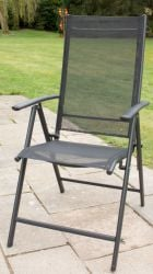 Kennet Set Of 6 Reclining Dining Chairs In Black By Hectare®