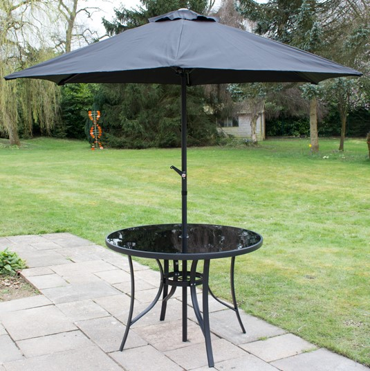 Kennet 2.5m Crank Parasol In Black By Hectare®