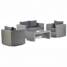 Oasis Rattan Outdoor 5 Seater Sofa Set with Glass Table