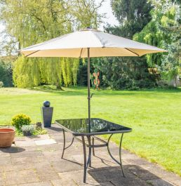 Kennet 2.5m Crank Parasol In Beige By Hectare™