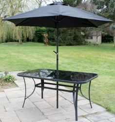Kennet Polytex Black Parasol With Crank by Hectare™
