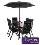 Kennet Reclining 6 Seater Polytex Dining Set by Hectare™
