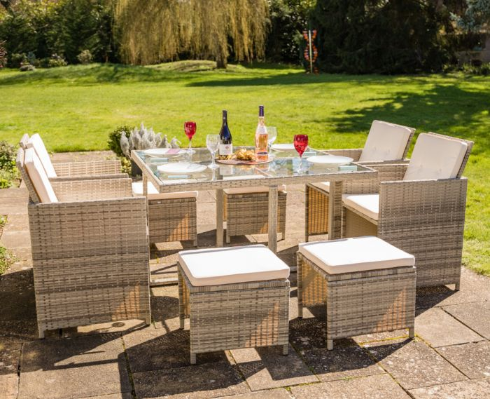 Sherborne Rattan 4 Seater Cube Conservatory And Garden