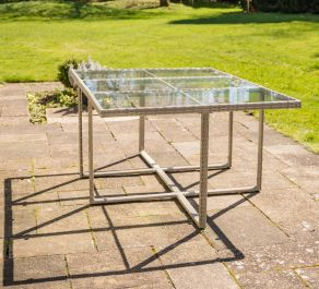 L180cm Sherborne Rectangular Glass Topped Rattan Table By Asha™