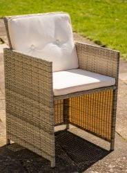 Sherborne Set Of 2 Rattan Dining Chairs In Mixed Grey By Asha™